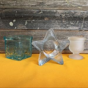 Vintage Votive Candle Holder Bundle of 3